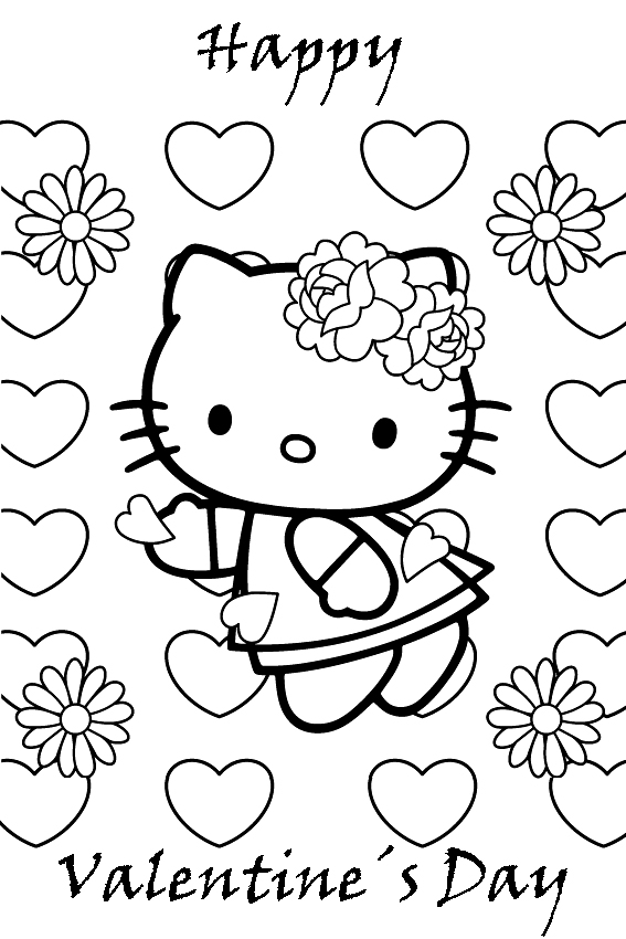Hello Kitty Valentines Coloring Pages Hello Kitty Forever