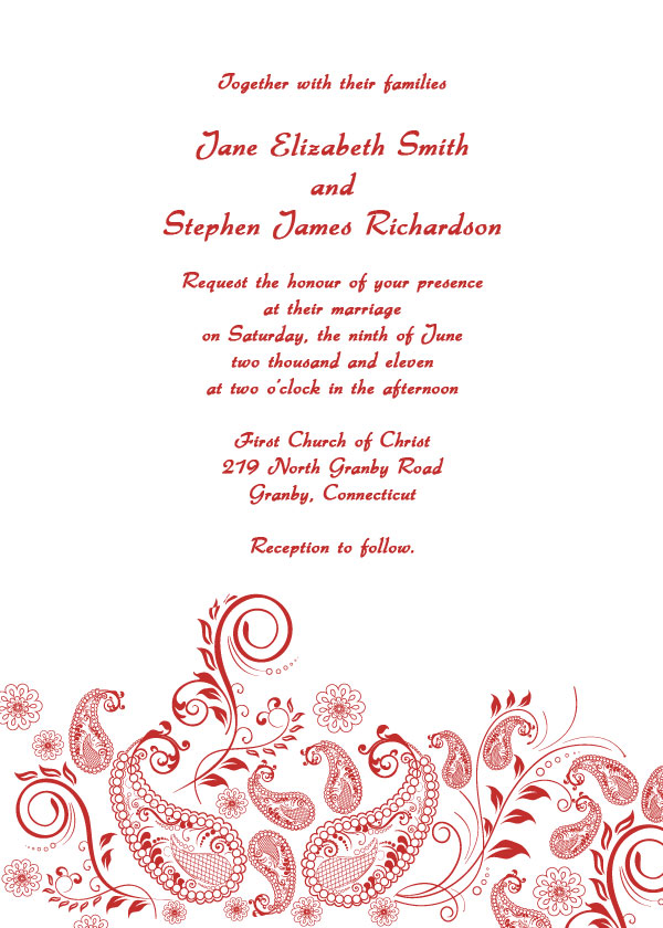 formal wedding invitations free printable wedding invitations With wedding template invitations to print free