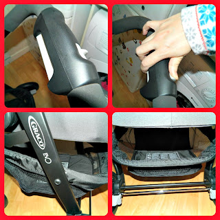 Graco Evo Stroller Features Shopping Basket Collapse function Chili