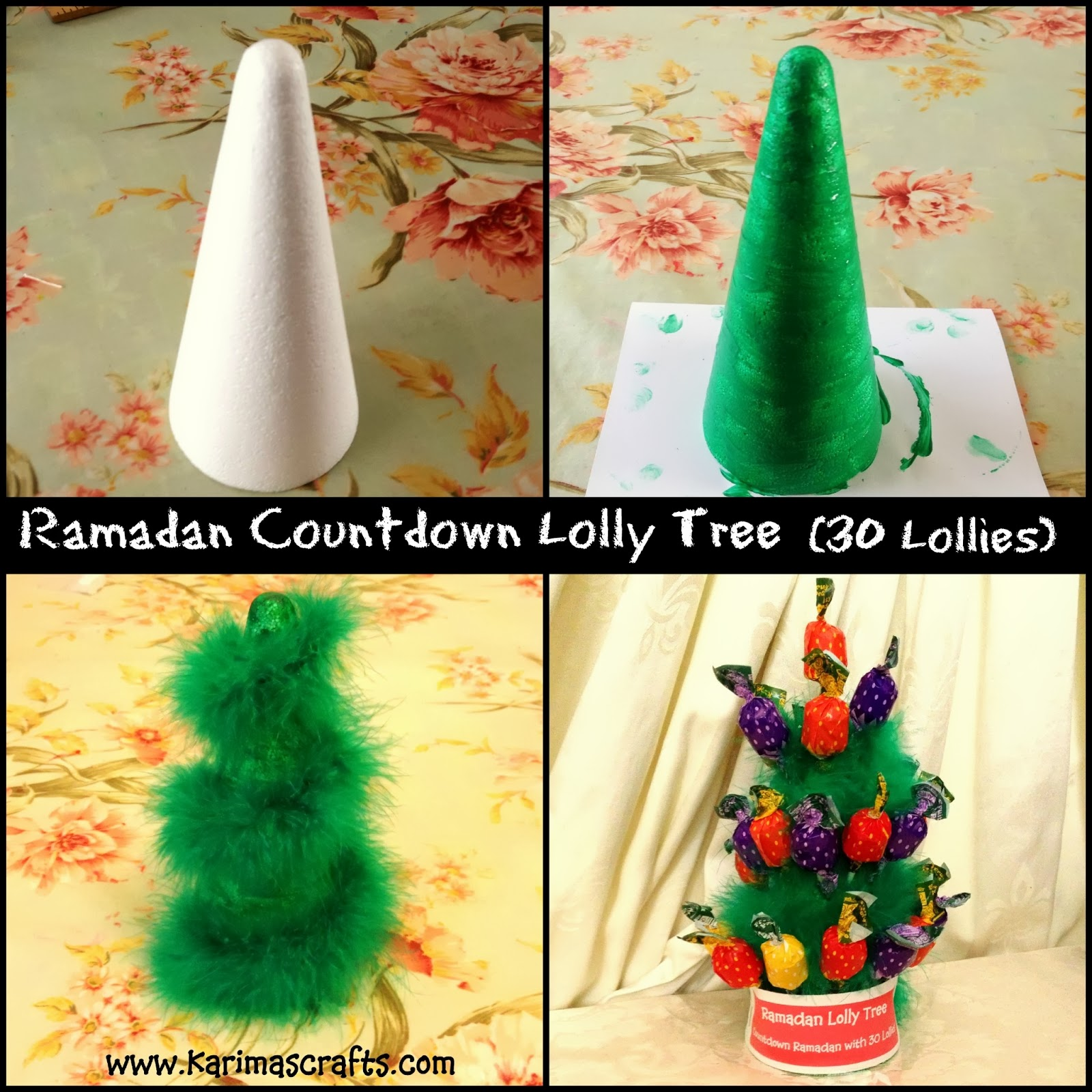 Ramadan Lolly Tree 30 days of Ramadan Crafts Tutorial