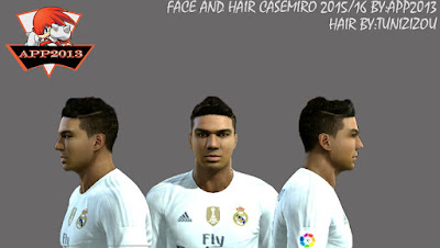 PES 2013 NEW FACE AND HAIR CASEMIRO 2015/16 by APP2013