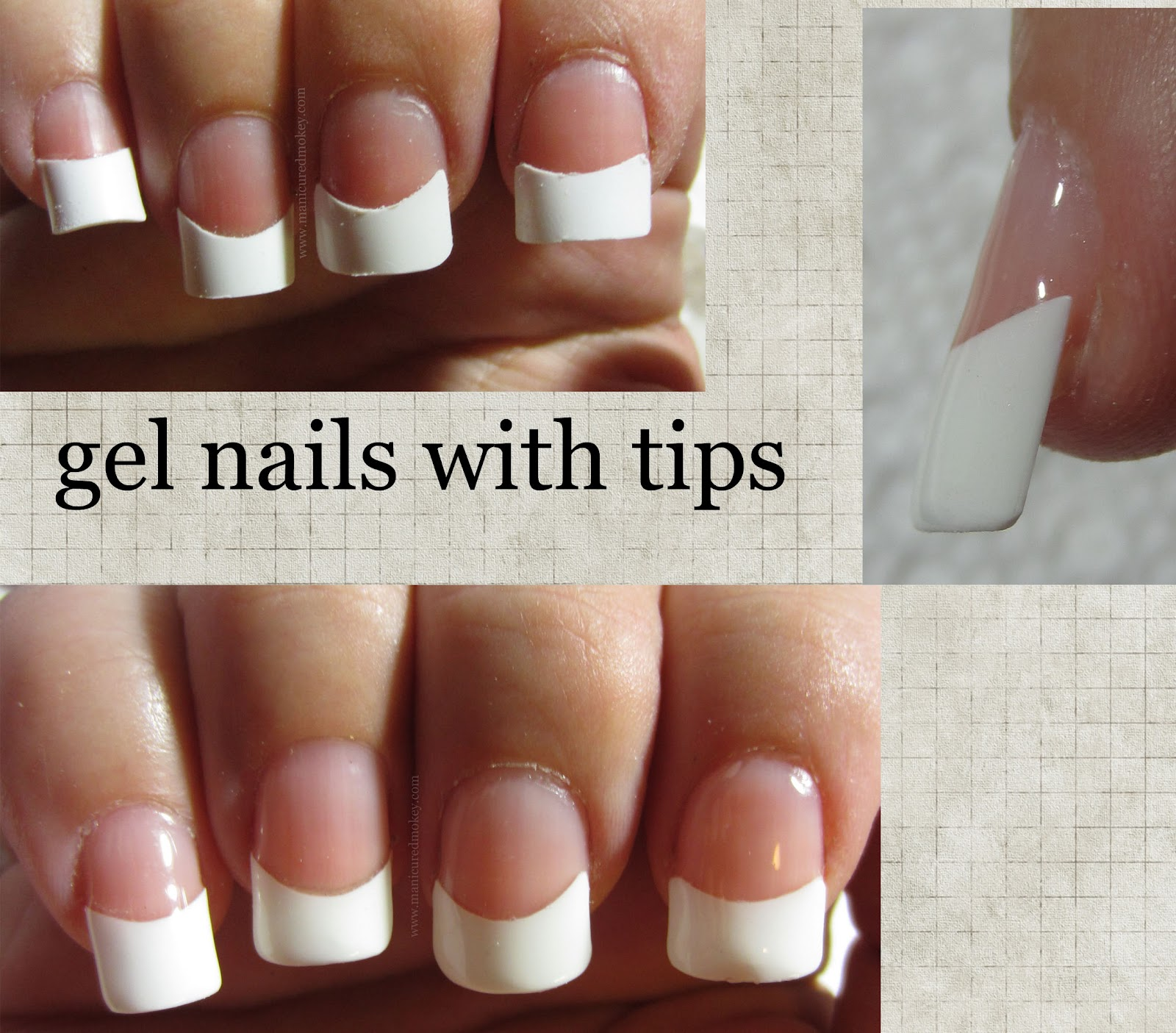 The Manicured Monkey: Gel Nails: My 1st attempt at tips