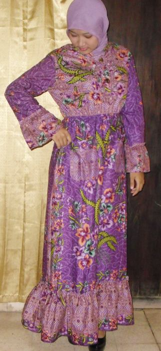 Abaya Fahimah (Batik Cantik Muslimah | Batik Baju Muslim Modern