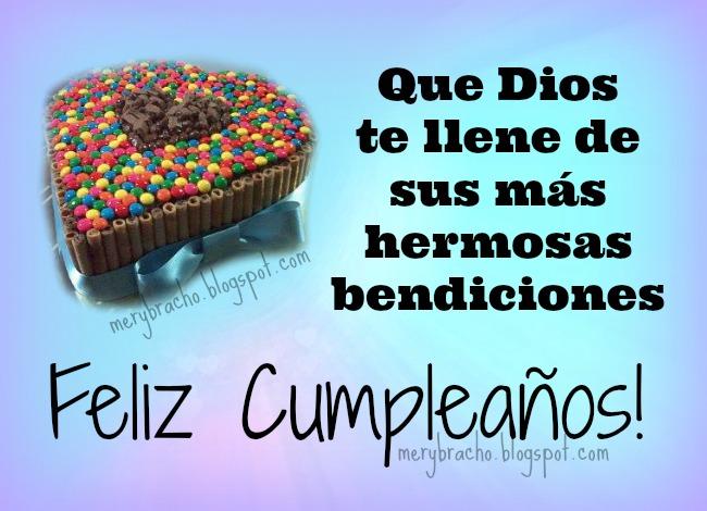 Dios te llene de hermosas bendiciones. Feliz Cumpleaños. imágenes cristianas para felicitar cumpleaños amigo, postales, tarjetas cristianas, felicitaciones amigo, niño, niña, hijo, hija, El Señor te bendiga.