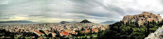 vistas de atenas y la acropolis