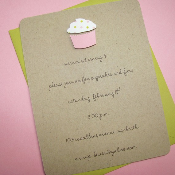 Dans la vie de billie etsy finds 1st birthday invitation this first one created by gracie girl notes is nice because its made out of recycled kraft paper i like the simplicity of it as well filmwisefo