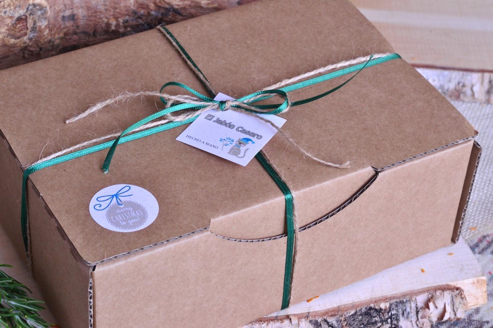 cajitas navidad con jabones naturales