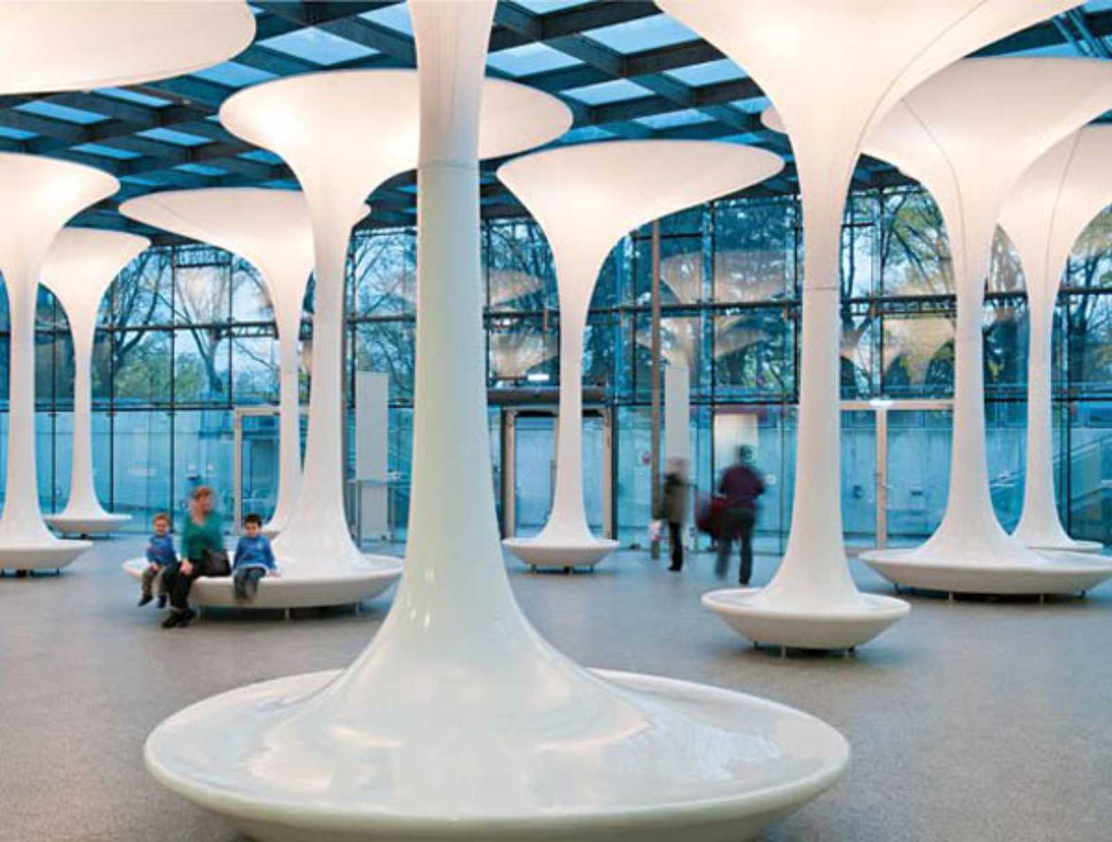 Tmw technical museum entrance foyer by querkraft architects