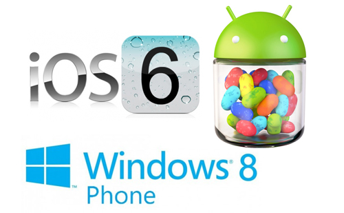 iOS 6, Android 4.1 và Windows Phone 8