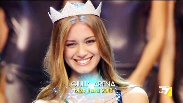 ERRATA CORRIGE: GIULIA ARENA MISS ITALIA 2013 NON E' NATA A MESSINA