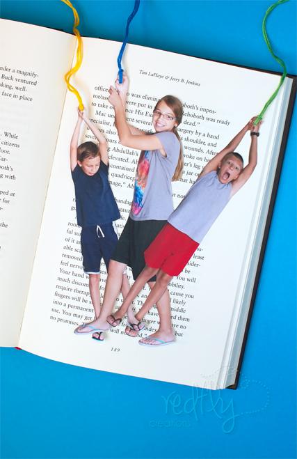 Puntos de libro con foto de tus hijos