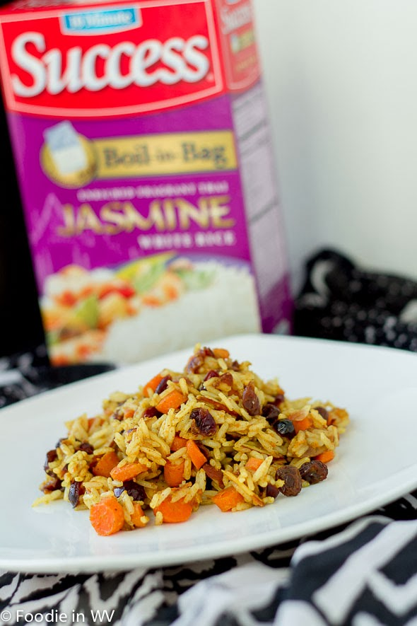 Jeweled Rice using Success Rice Boil-in-Bag Jasmine Rice