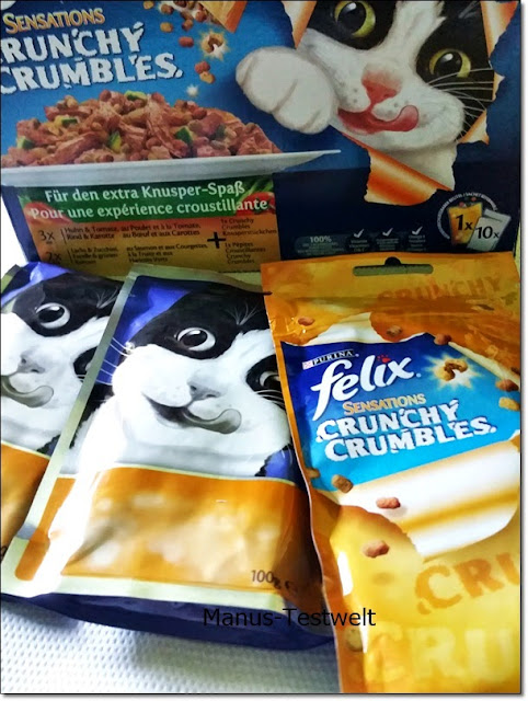 Futtertest  FELIX Sensations Crunchy Crumbles
