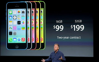 iPhone 5C showcase showing pricing
