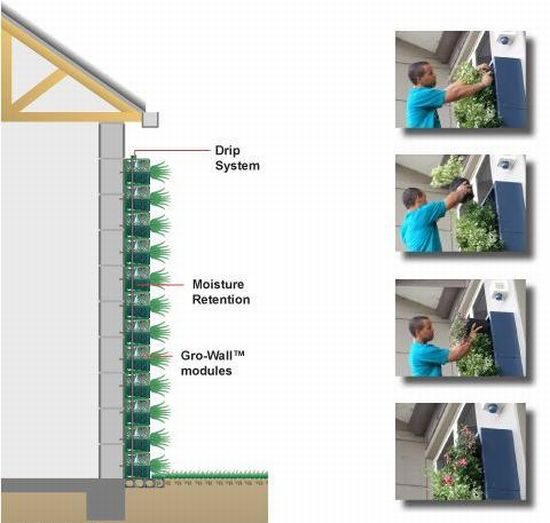Vertical garden for Vertical garden wall systems