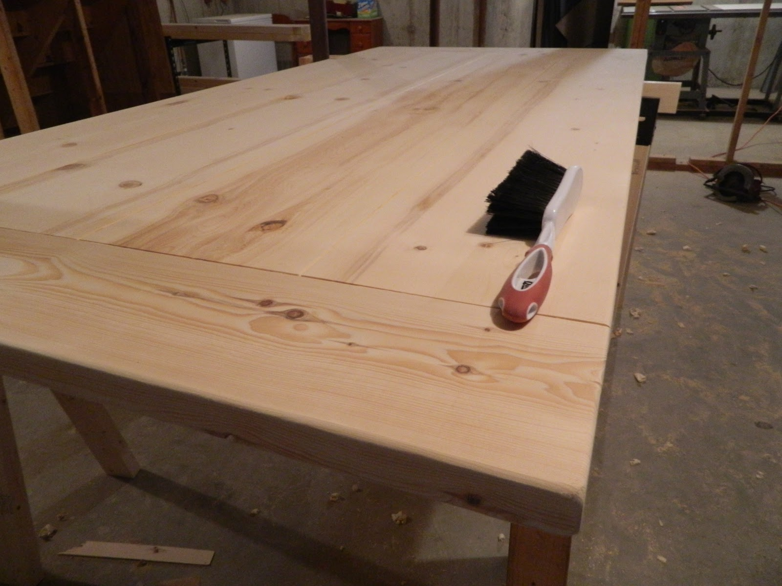 Superb ... Other End Of The Table Top Straight With My Circular Saw, Then Attach  The Breadboards. Once That Was Done, The Table Top Received A Thorough  Sanding.
