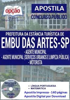 Apostila Digital Prefeitura de Embu das Artes (SP) Agente Municipal