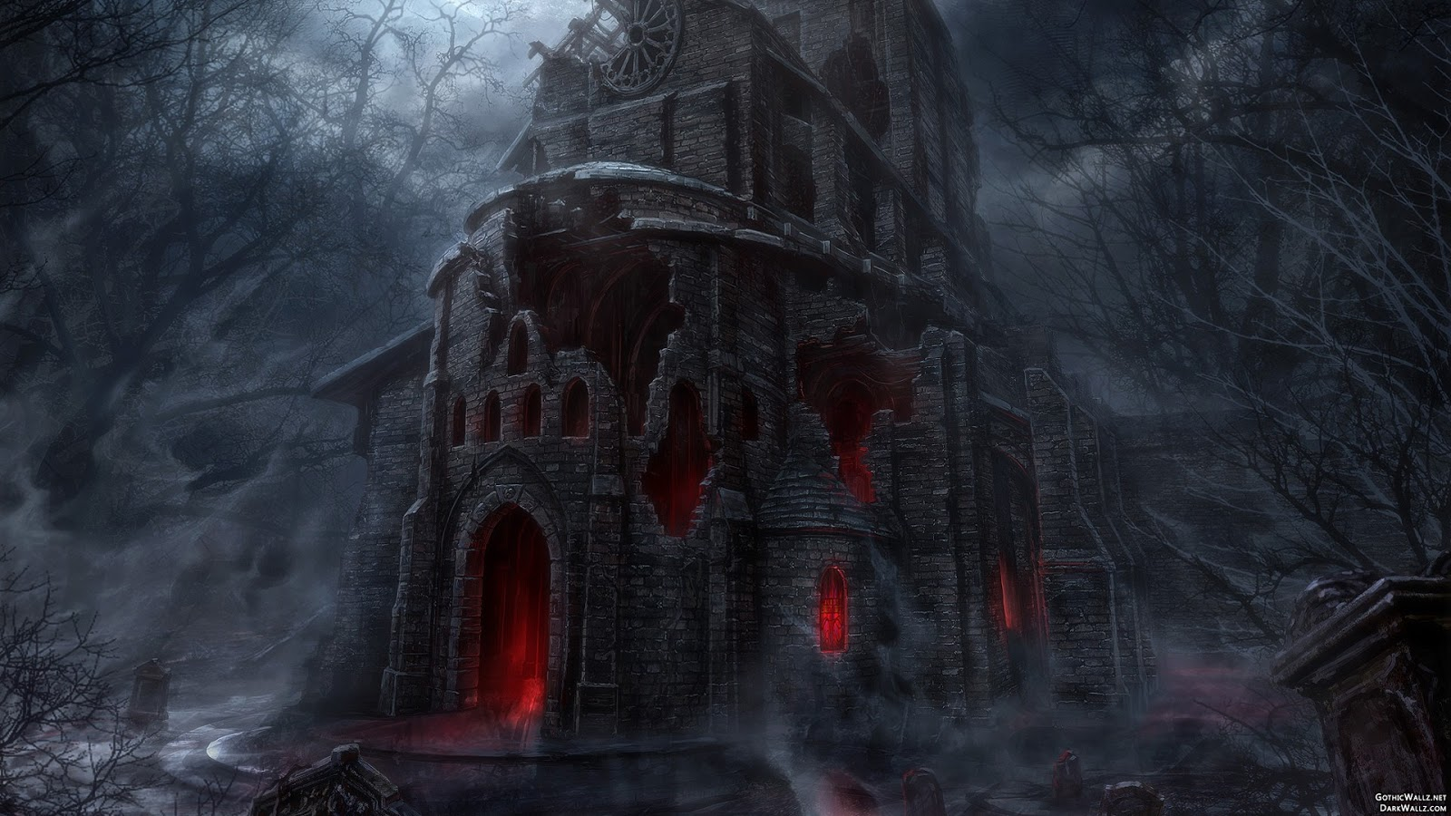 Dark halloween scary creepy gothic house | Dark Gothic Wallpaper Download