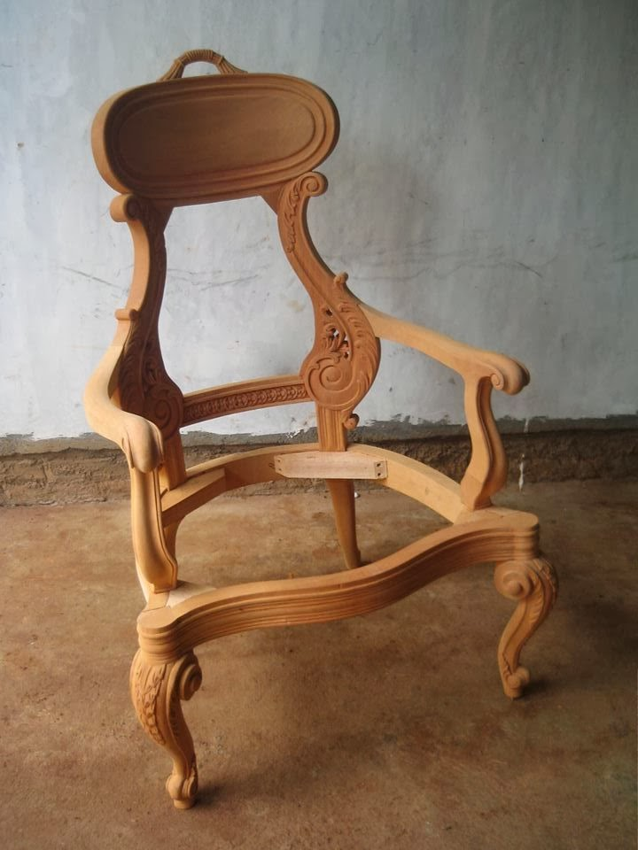 Unfinished Mahogany Furniture Unfinished Classic Wooden Frame Mahogany Salomo Chair
