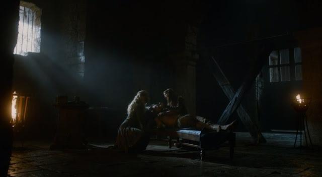Theon y las dos chicas - Juego de Tronos en los siete reinos