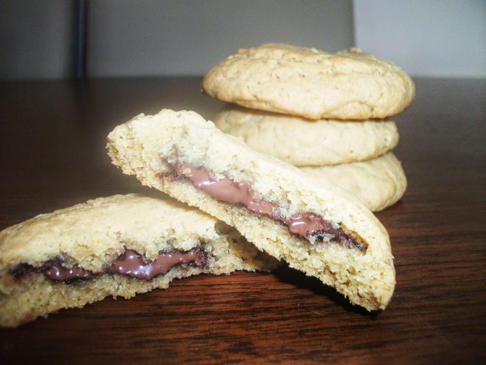 Gluten Free Nutella stuffed Peanut Butter Cookies