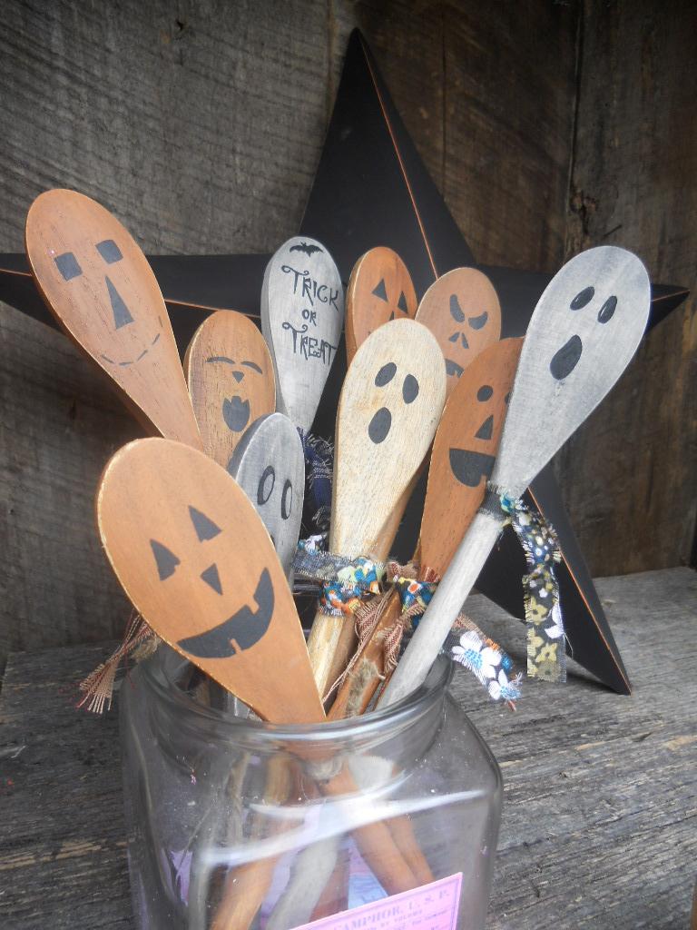 craft booth 555 snowman pumpkin wooden spoons snowman magnets. Black Bedroom Furniture Sets. Home Design Ideas