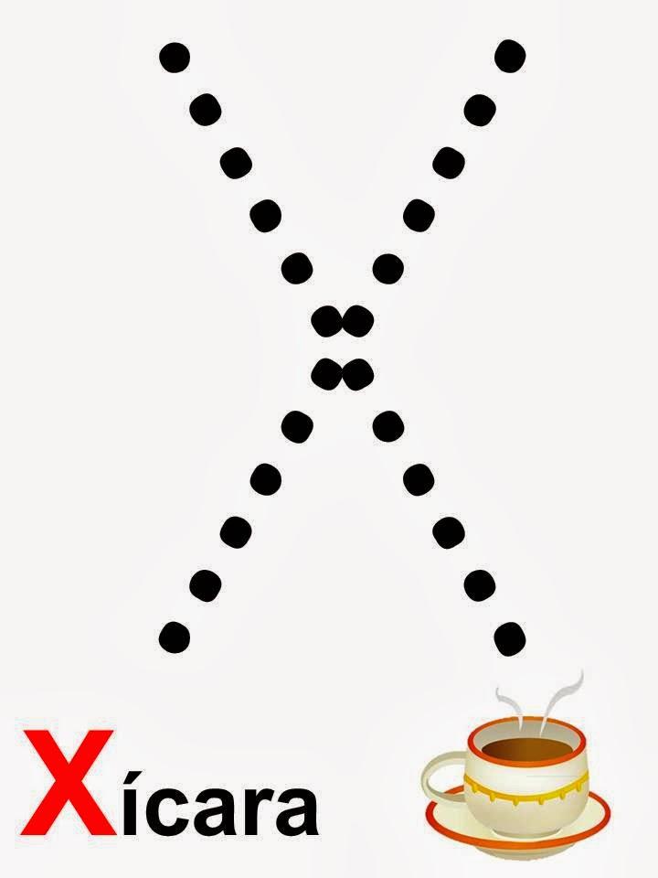 alfabeto xícara