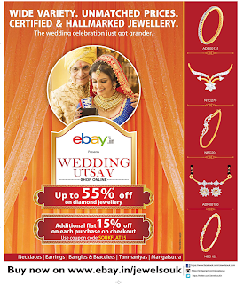 Additional flat 15% offer on each purchase on eBay jewelsouk
