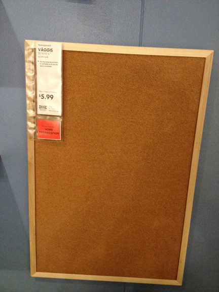 Sohl design diy burlap message board for Ikea cork board