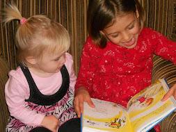 Cousins Sharing a Book
