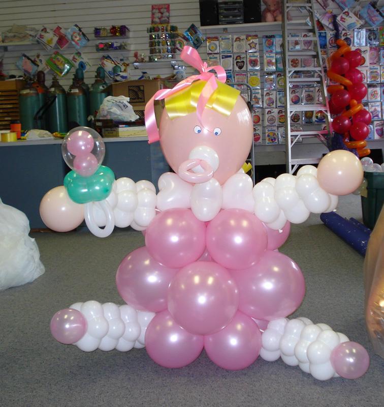 decorar un baby shower con globos