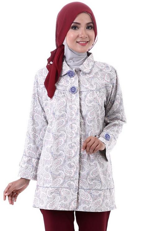 Contoh Gambar Baju Batik Muslim Wanita