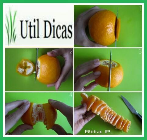 Como descascar laranjas e tangerinas (tutorial em imagem e vídeo)