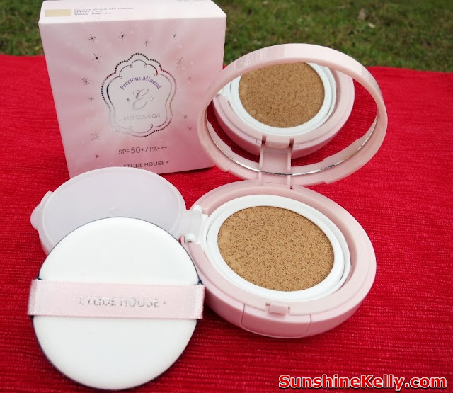 Etude house, product review, 6 in 1 multitasking foundation, Etude House Precious Mineral Any Cushion SPF50+ / PA++, makeup, korean makeup, beauty blogger