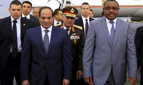 Sisi arrives to Addis Ababa, to address Ethiopian parliament