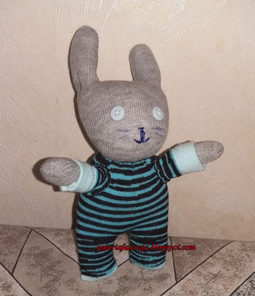 skarpetkowy zajączek/ sock bunny