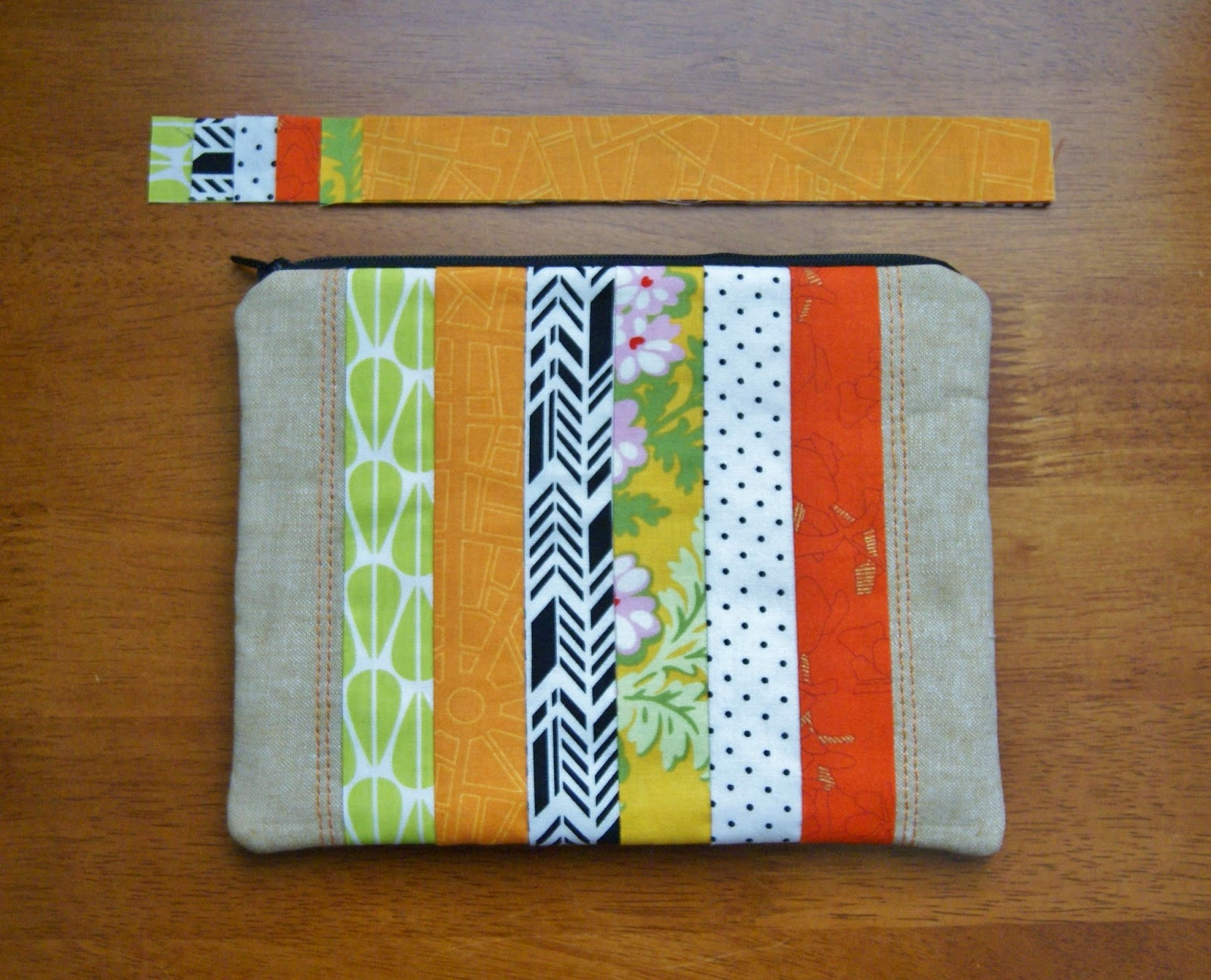 Palm Springs Fabric Audition Zipper Pouch by Heidi Staples of Fabric Mutt