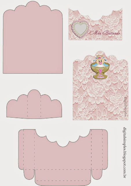 Baby Girl Baptism Free Printable Candy Package Support.