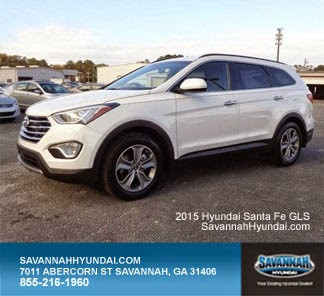 2015 Hyundai Santa Fe GLS, Savannah GA, Savannah Hyundai, Hyundai Dealership, New Car Specials