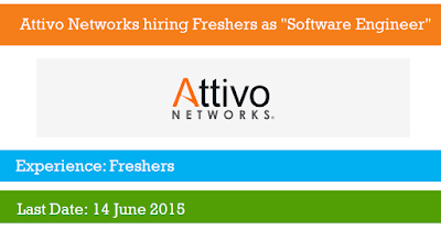 "Attivo Networks hiring Freshers as ""Software Engineer"""