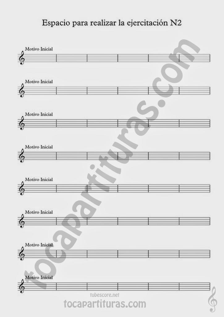 Partitura para realizar el Ejercicio de Improvisación Nº2