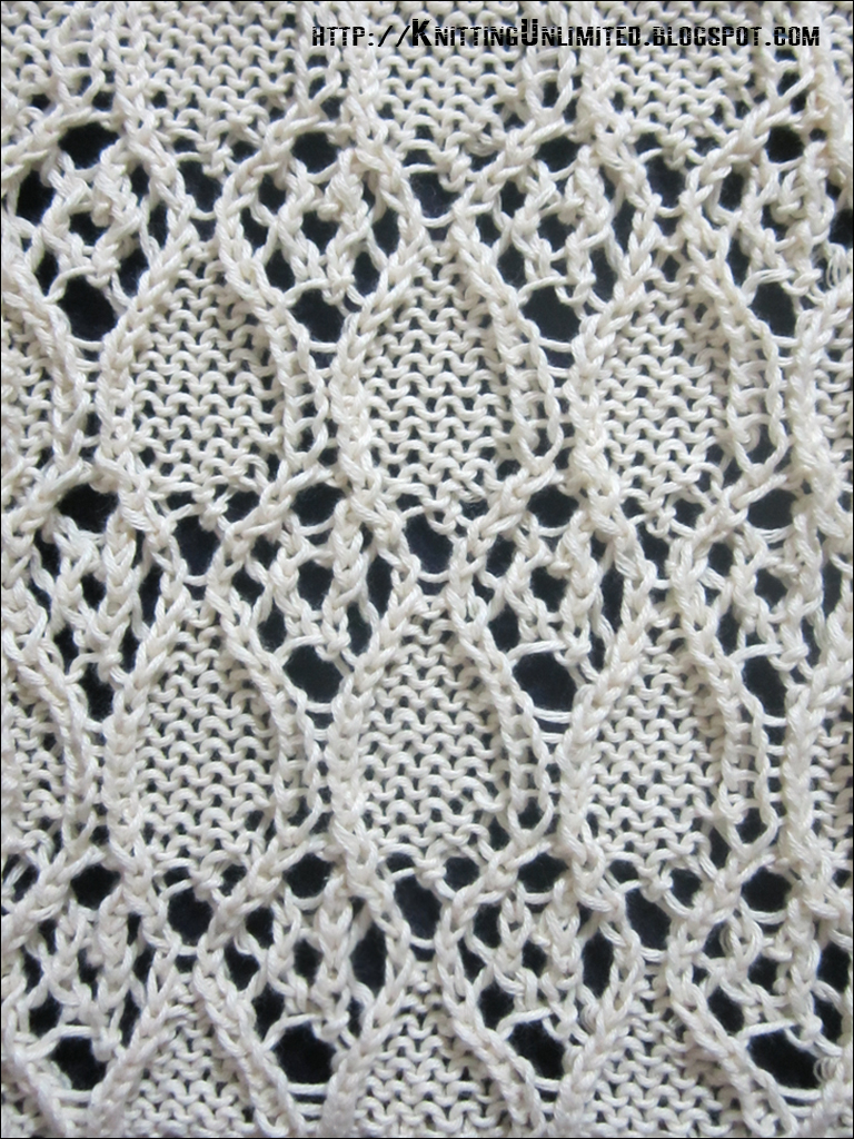 Lace Knitting Stitch Patterns : Lace Knitting Pattern 13 - Knitting Unlimited