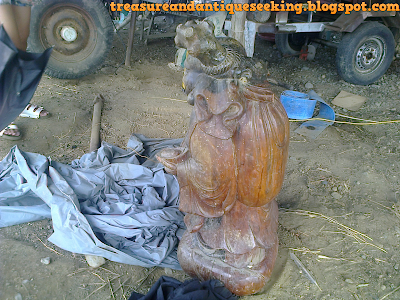Wooden Buddha Left Side View