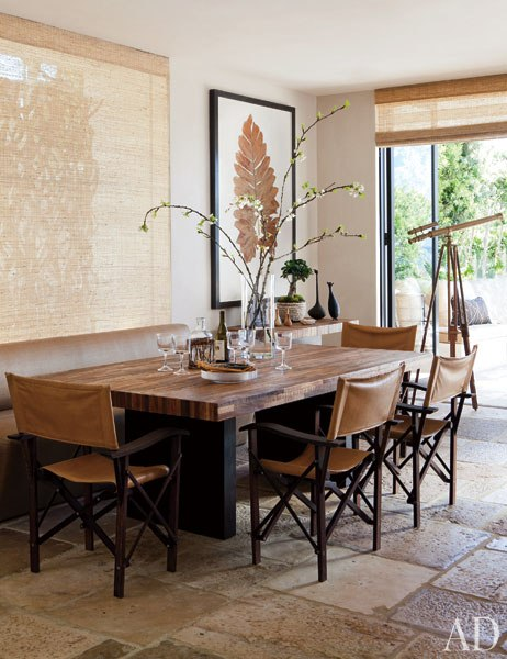 Designed by designers Richard Hallberg and Barbara Wiseley, this oceanfront  home feels laid-back and elegant with the use of earthy neutral-tone color  ...
