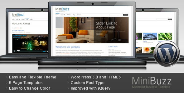 MiniBuzz - Minimalist Business Wordpress Theme Free Download by ThemeForest.