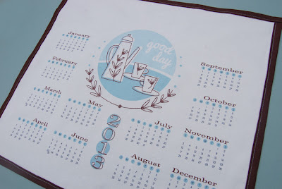 vintage style fabric calendar