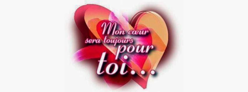 Couverture facebook mon coeur pour toi