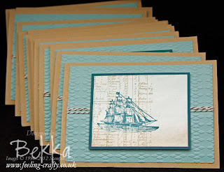 The Open Sea Masculine Card by Stampin' Up! Demonstrator Bekka Prideaux - made to share with her team - join them here
