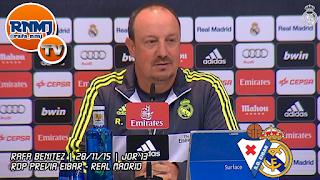 Rafa Benítez Rueda de prensa previa Eibar - Real Madrid