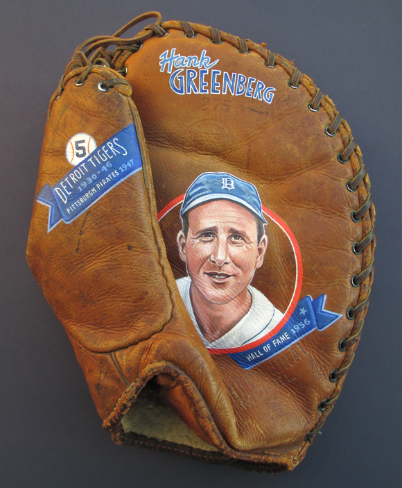 Hank Greenberg baseball art by Sean Kane